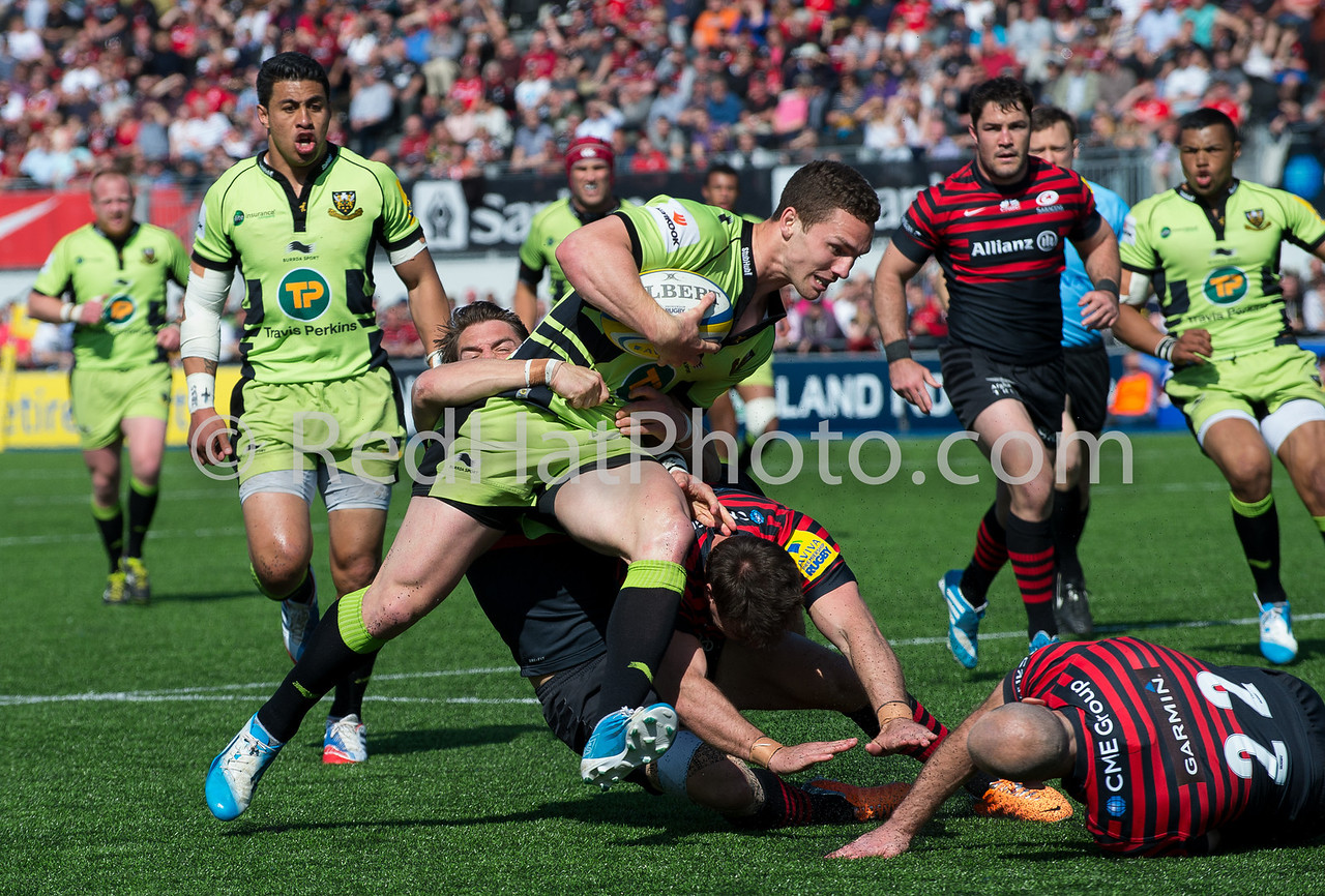 Saracens vs Northampton Saints, Aviva Premiership, Allianz Park, 13 April 2014